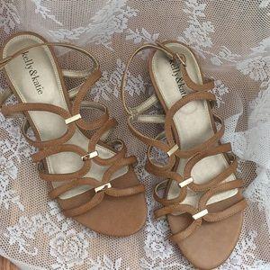 Kelly & Katie brown wedge sandals